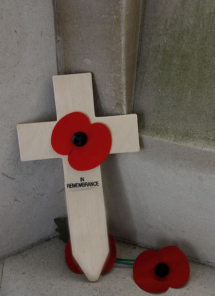 Poppy Cross Memorial - Remembrance Day